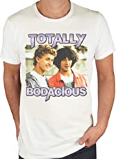 Retro Tees Mens Bill and Ted's Excellent Adventure - Totally Bodacious Slogan T-Shirt
