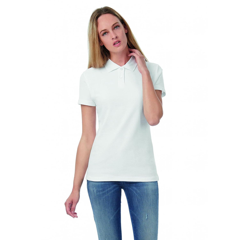 Set 3 Pezzi - Polo Bianca piquè (Bianco Candido) da Donna - 100% Cotone Fresco e Leggero - Ottima vestibilità - Ideale per Il Lavoro, Cucina, pizzaiolo ECC