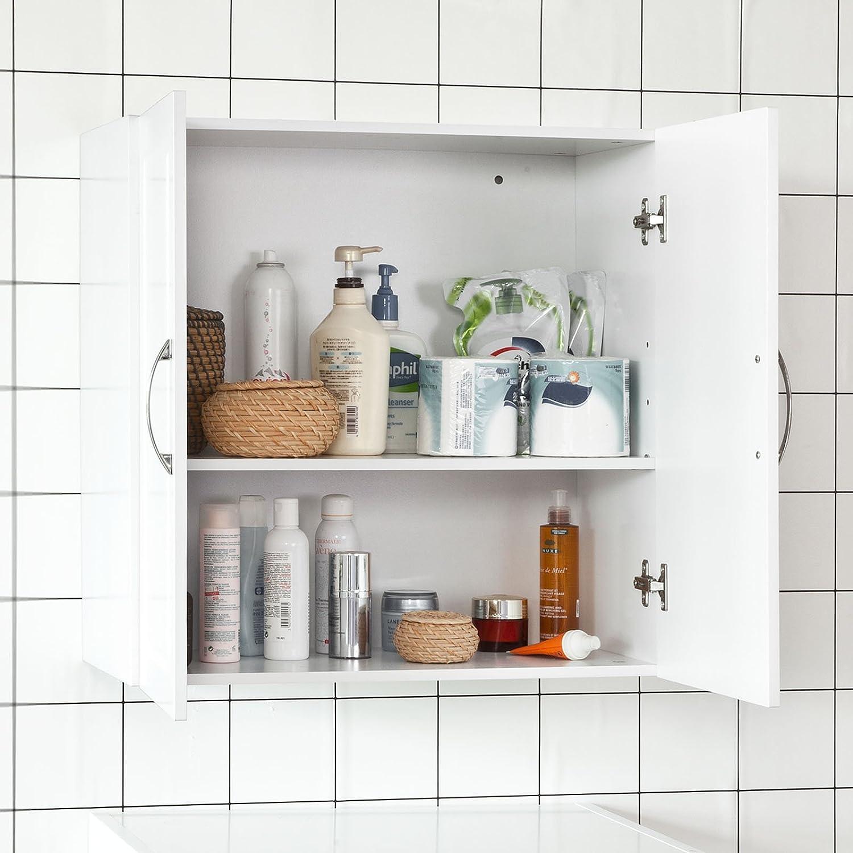 Amazon.de: SoBuy® frg231-w Oberschrank Schrank-WC Badezimmer ...