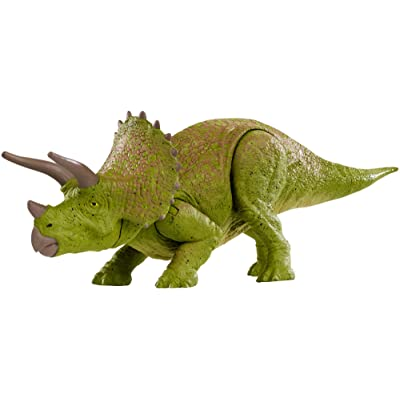 Jurassic World Battle Damage Triceratops: Toys & Games