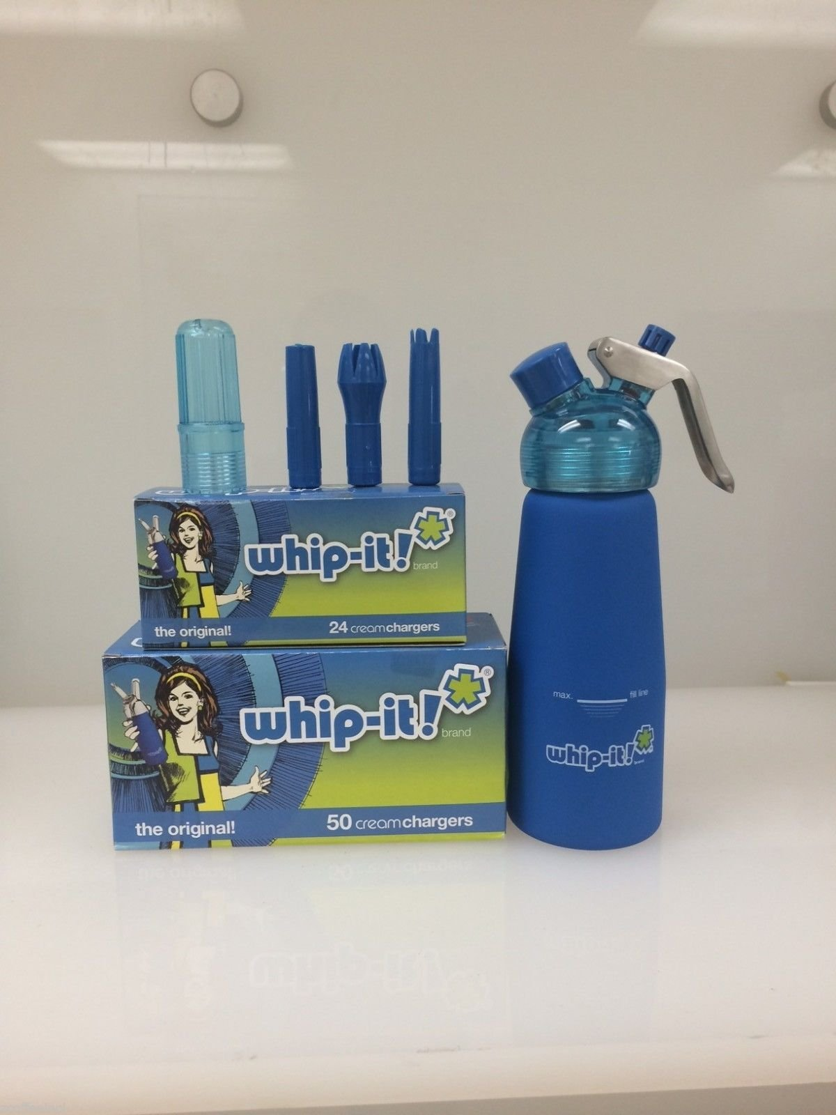 300 Whipped Cream Chargers Nitrous Oxide N2o Whip-it Medical Grade Combo Blue
