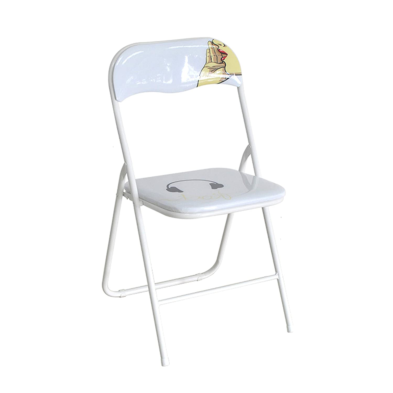 C Fold Chair, Portable Backrest Chair Plastic Household Dining Chair Office Chair Conference Chair Training Chair Student Chair Metal Chair,a