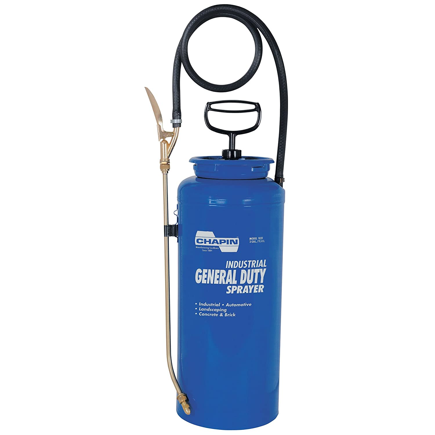Chapin 1831 3-Gallon Industrial Open Head General Duty Sprayer for Fertilizer, Herbicides and Pesticides (1 Sprayer/Package)