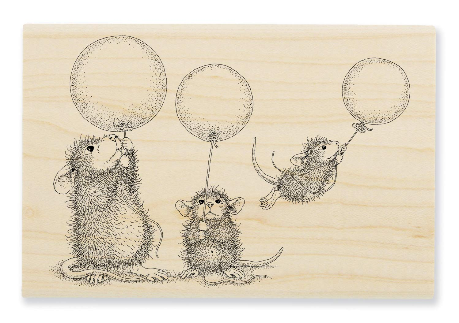Stampendous HMP103 Balloon Fun Wood Rubber Stamp