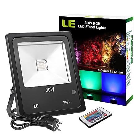 LE Foco LED RGB de 30W, 16 Colores y 4 Modos, Foco Proyector ...