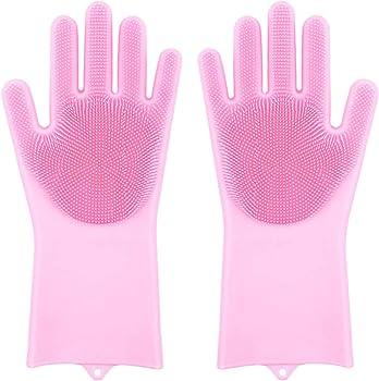 Findbest Silicone Dish Scrubbing Gloves