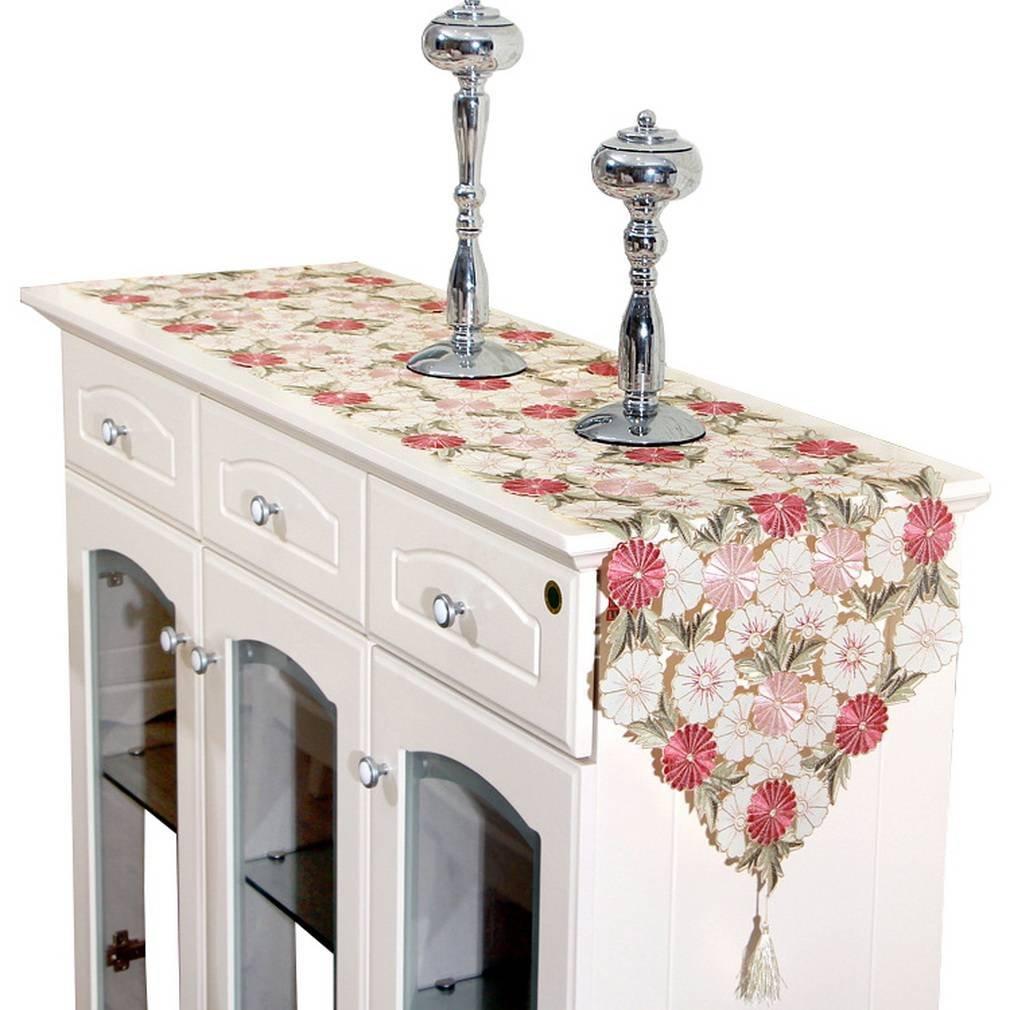 YiyiLai Blume Form Küche Dekor Table Runners Tischband Tischdecke Tischunterlagen Tischläufer Mehrfarbig 15*69 inch YIYI180244