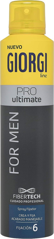 Giorgi Line - Spray Fijador Pro Ultimate For Men, Crea y Fija un Acabado Manejable para Hombre, FIjación 6 - 250 ml