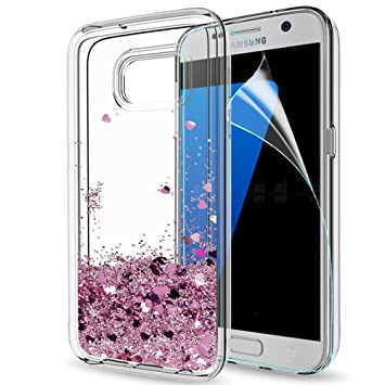 coque galaxy s6 edge silicone rose