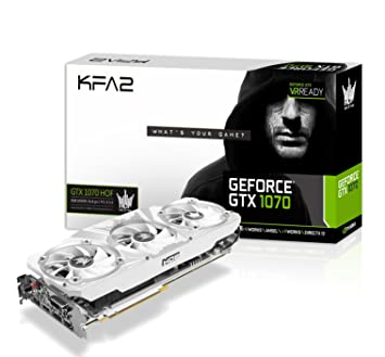KFA2 GeForce® GTX 1070 GeForce GTX 1070 8GB GDDR5 - Tarjeta Gráfica (GeForce GTX 1070, 8 GB, GDDR5, 256 bit, 4096 x 2160 Pixeles, PCI Express 3.0)