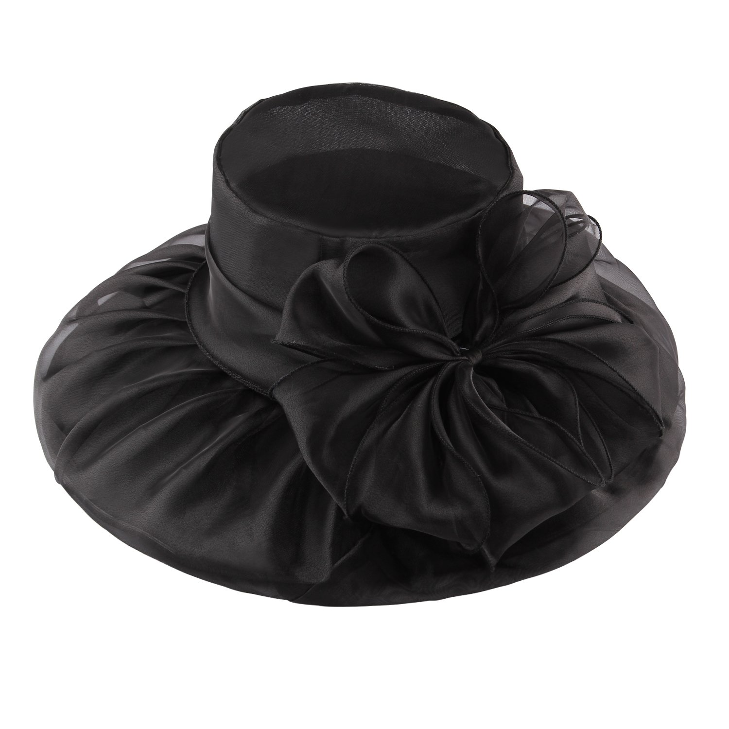 Steampunk Hats | Top Hats | Bowler Acecharming Women Organza Kentucky Derby Fascinator Lady Cocktail Tea Party Church Wedding Bridal Flower Hat $12.99 AT vintagedancer.com