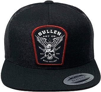 Sullen Mens Sol Trucker Snapback Hat Black