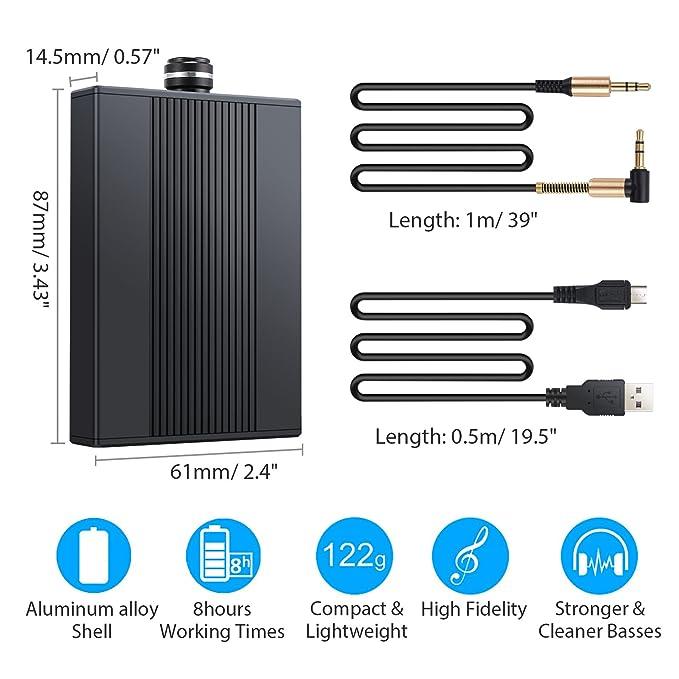 Amazon.com: Proster Headphone Amplifier Portable Amp 3.5mm Audio Rechargeble HiFi Earphone USB Amplifier for iPhones iPod MP3 MP4 Digital Player and ...