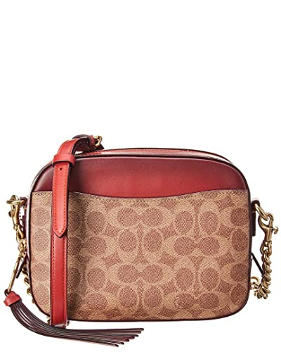 0e75fb68fee0 COACH Women s Camera Bag in Coated Canvas Signature B4 Rust One Size   Handbags  Amazon.com