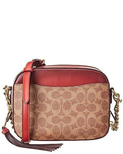 3791d1028ac7 COACH Women s Camera Bag in Coated Canvas Signature B4 Rust One Size   Handbags  Amazon.com