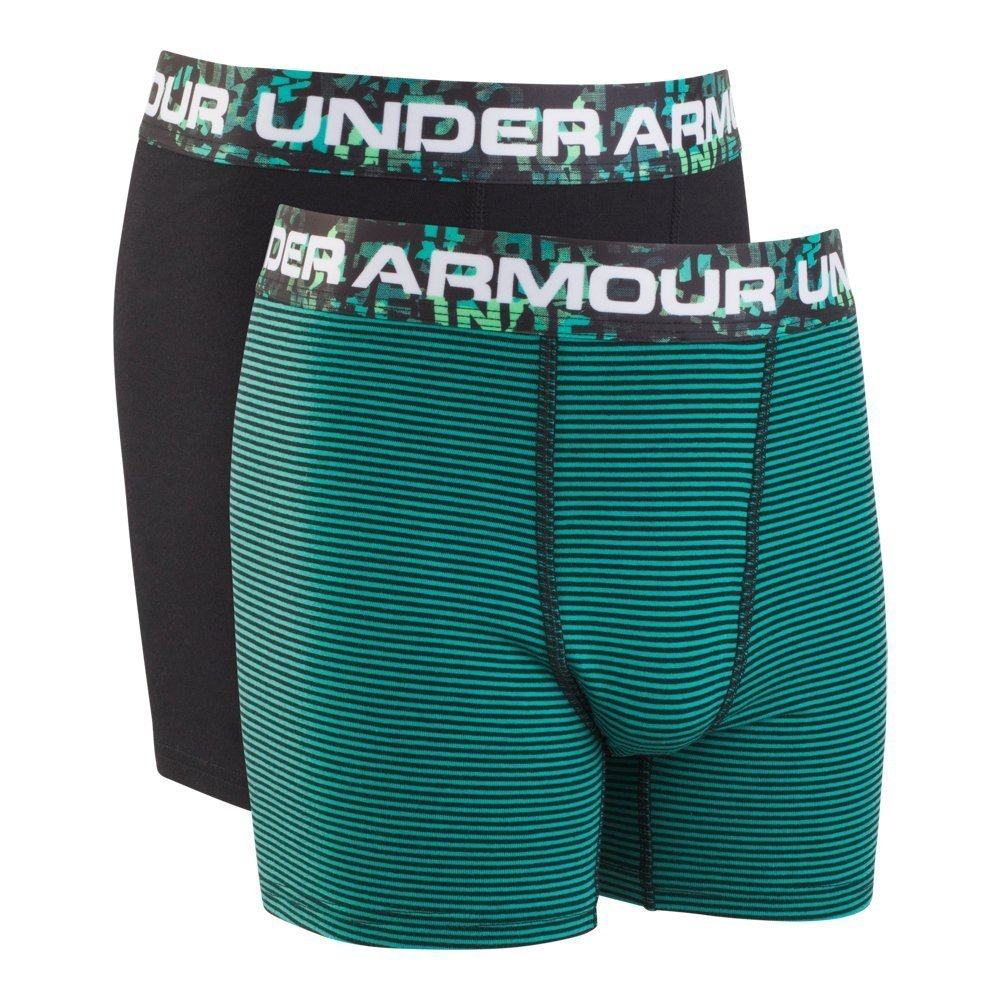 Under Armour Charged Cotton Stretch Boxerjock 2-Pack YLG GREEN MALACHITE