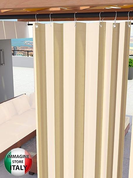 Toldos para exteriores con anillos colgantes Tejido antimoho impermeable Tejido de algodón recubierto de resina Toldo para balcones Terrazas Gazebos Caravanas tamaño maxi (Rayas Beige <290> x 290cm): Amazon.es: Hogar