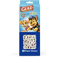 Glad for Kids Paw Patrol Paper Straws, 50 Count | Paper Straws with Fun Design for Kids | Biodegradable Paper Straws…