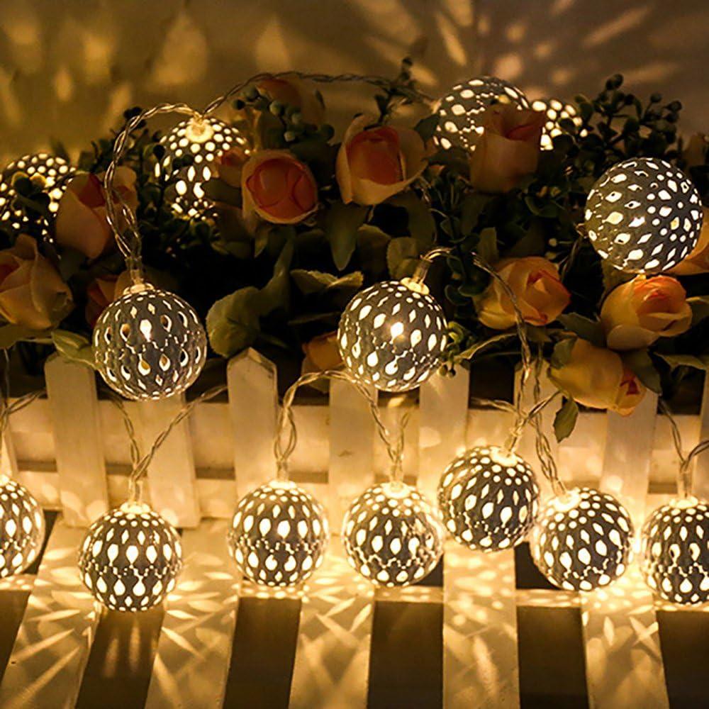 LED Guirlandes Lumineuses Ampoules D/écoration D/'int/érieur /éclairage Puissance de la Batterie Adapt/é aux Mariage F/êtes Cadeaux 3M 20 LED Blanche chaude