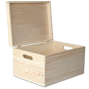 Creative Deco Xxl Grande Coffre Boîte De Rangement Bois 40 X 30 X