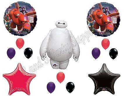 BIG HERO 6 Disney Balloons Birthday Party Decoration Supplies Hiro Baymax Movie