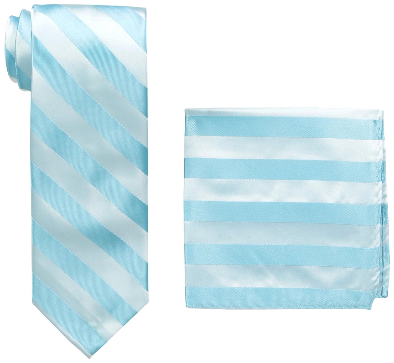 Stacy Adams - Conjunto de corbata de rayas formales extra larga ...