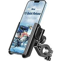 【2021 1S Quick Release】 Tiakia Bike Motorcycle Phone Holder, Universal Phone Mount for Bicycle Anti Shake, 360° Rotation…