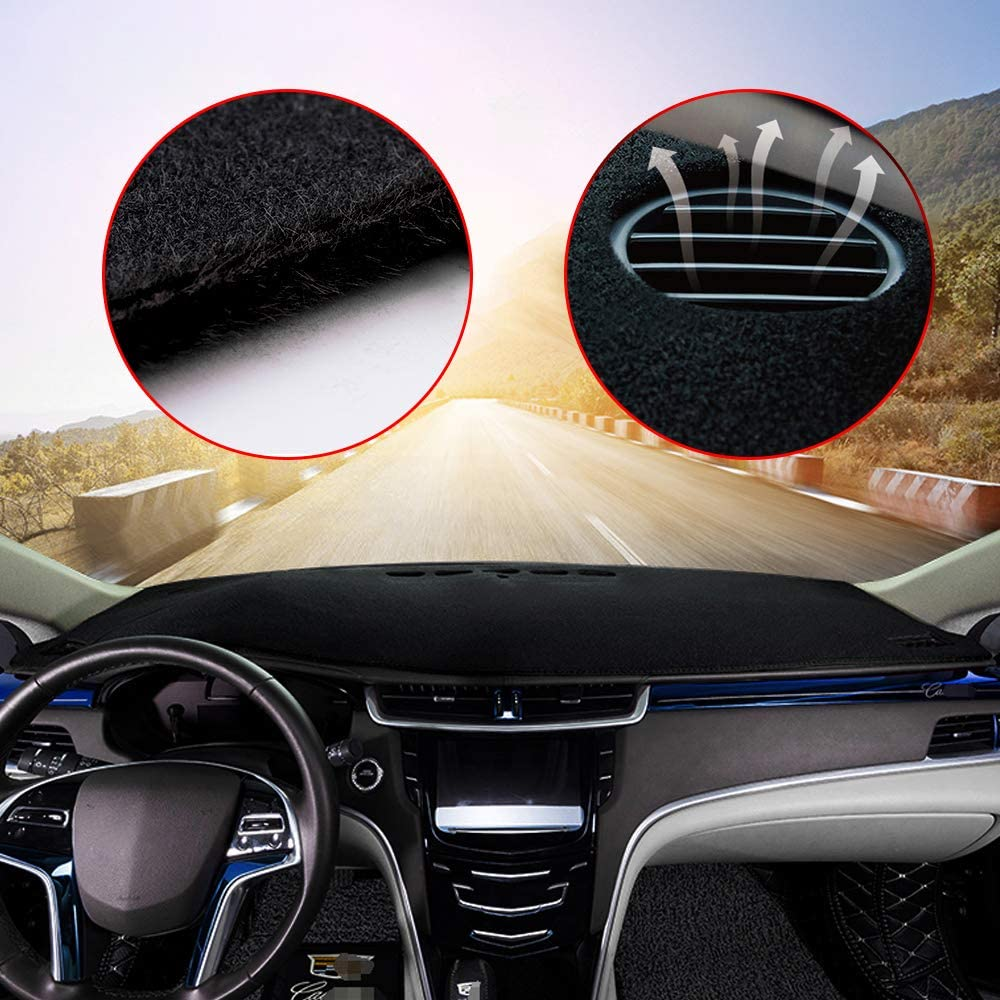 Custom Center Console Dashboard Cover Carpet Mat for Ford Edge 2015-2020 Interior Dash Covers Accessories Black Line 1PCS