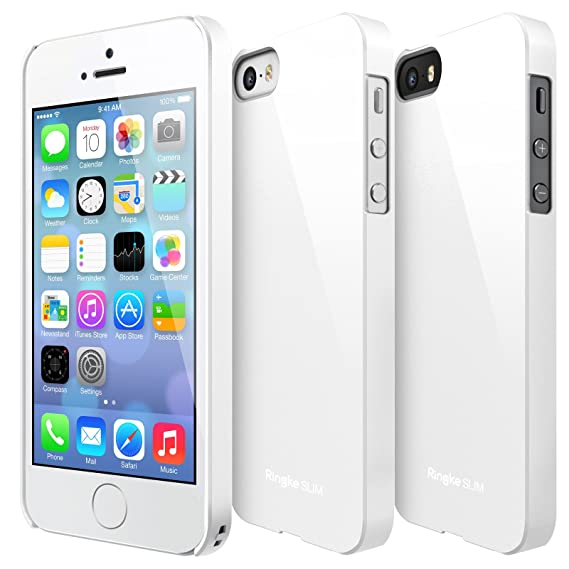 promo code 3214b d135d Ringke [SLIM] Compatible with Apple iPhone SE Case Outfitted & Slender  [Tailored Cutouts] Classy Superior Steadfast Compelling Lightweight Slim PC  ...