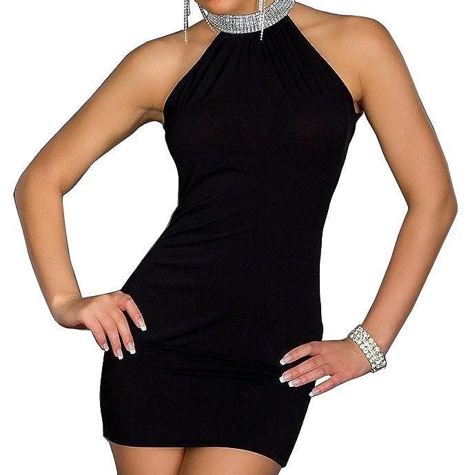 Rainmary sexy Abend Party clubwear Kleid - Mini-Abend-Kleid in verschiedenen,  Black
