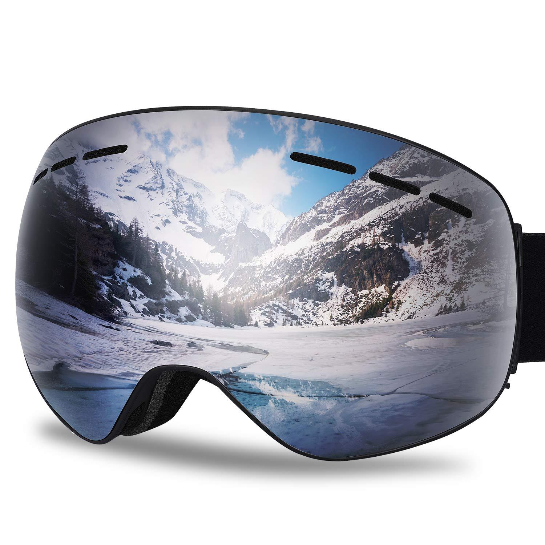 b8616002b5c0 Amazon.com   G4Free Ski Snow Snowboard Goggles Over Glasses for Men Women