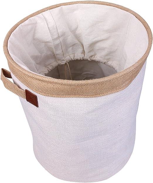 Wäschesammler mit Schleife grau