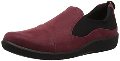 591960d9bc27 CLARKS Women s Sillian Paz Loafer Burgundy Synthetic Nubuck 050 ...