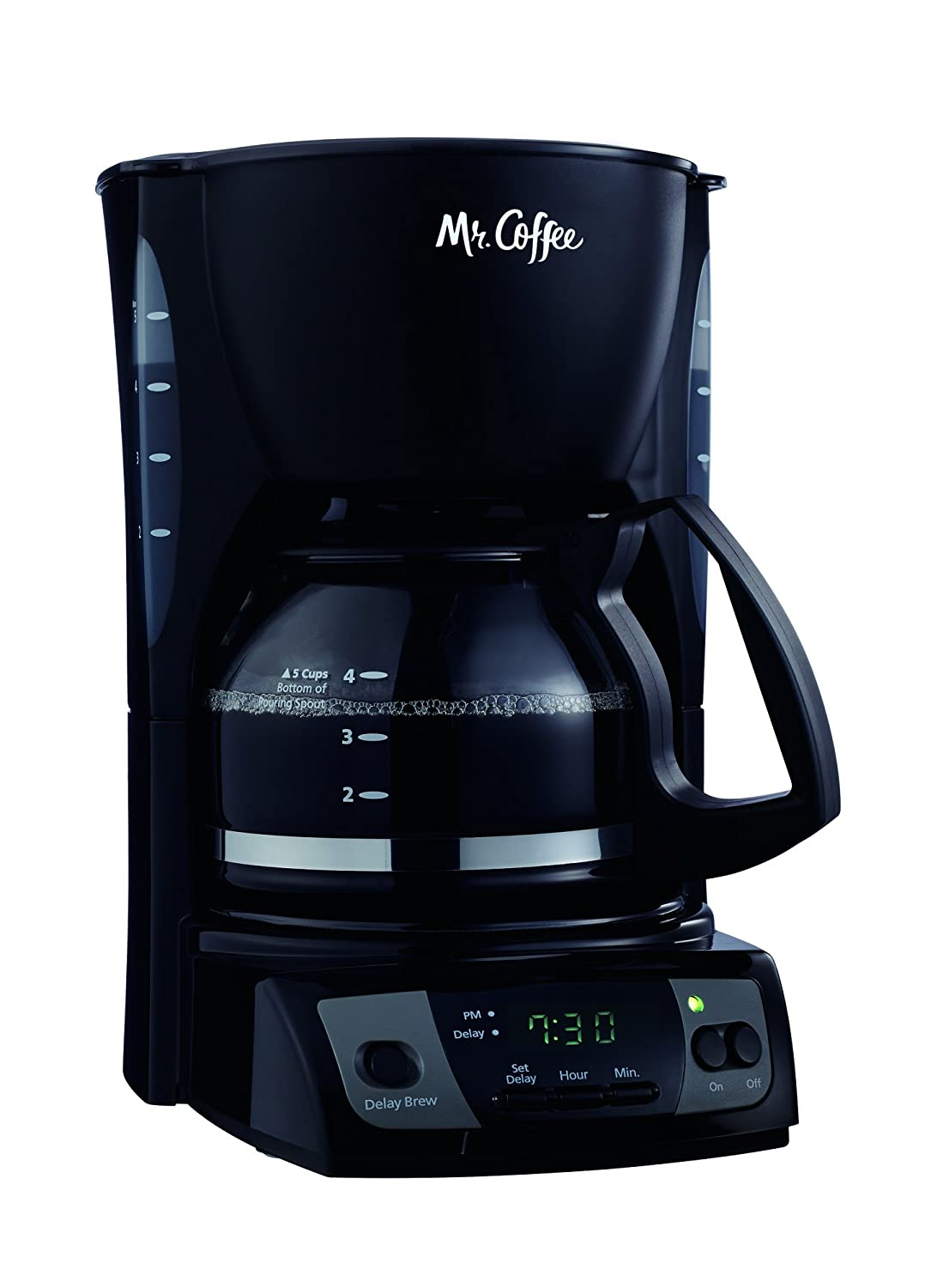 Mr. Coffee Simple Brew 5-Cup Programmable Coffee Maker, Black - CGX7-RB