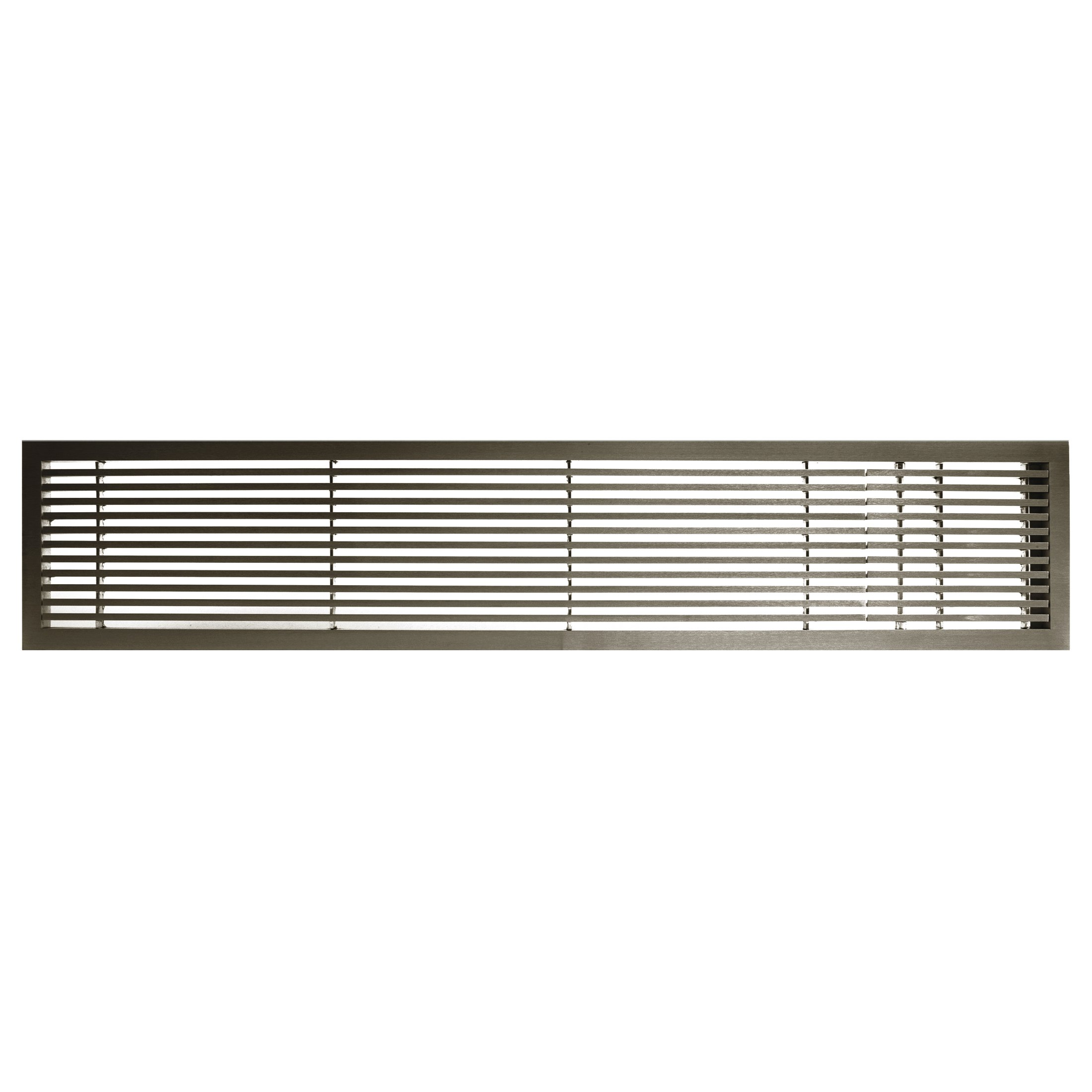 Architectural Grille 200042426 AG20 Series 4'' x 24'' Solid Aluminum Fixed Bar Supply/Return Air Vent Grille, Antique Bronze Finish with Right Door by Architectural Grille