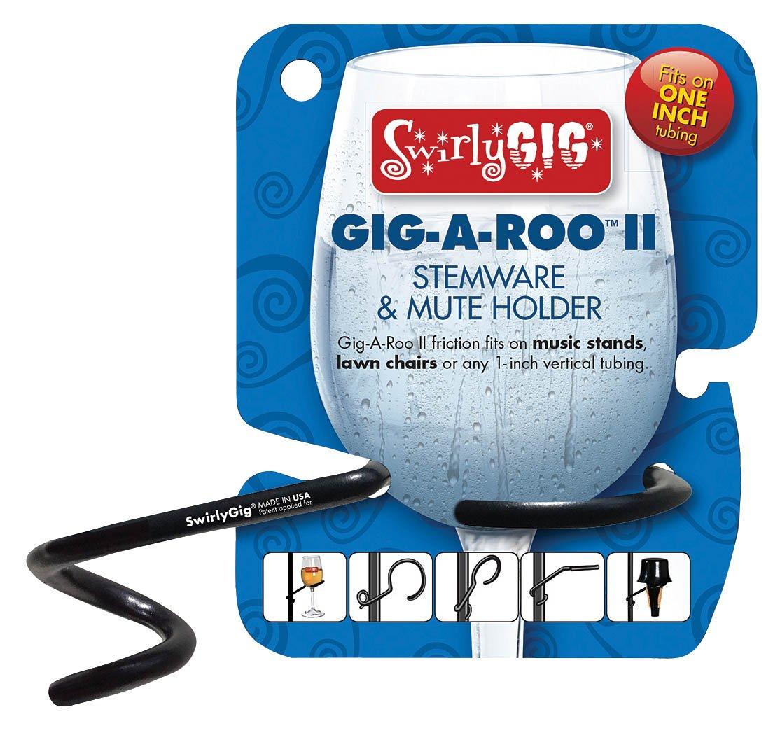 SwirlyGig GR2000 Gigaroo Ii 2 Mute or Stemware Holder for 1 Tubing
