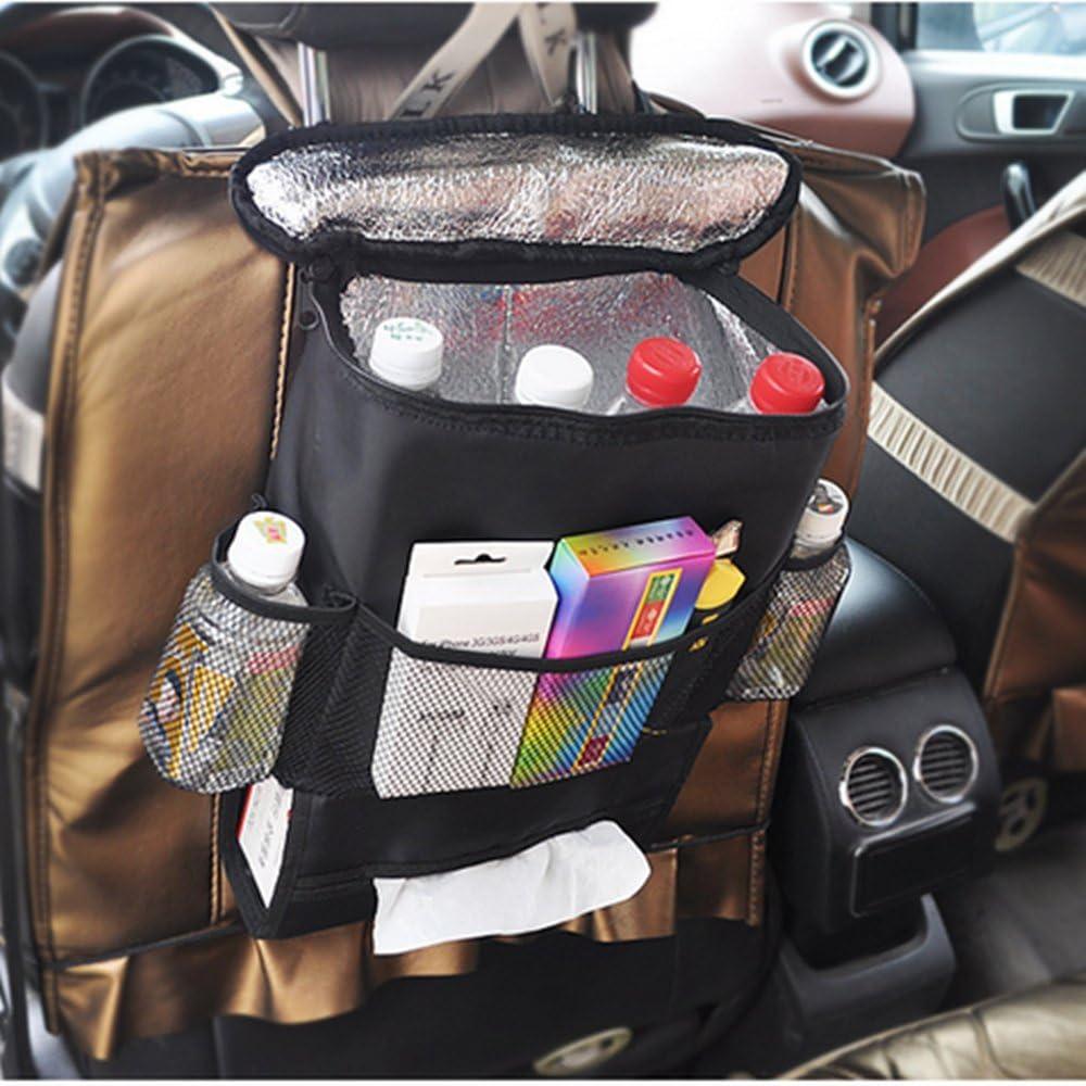 Auto Rücksitz Organizer Kühler Leichtes Aufbewahrungstasche Mit Mehreren Taschen Für Outdoor Reise Erhaltung Wärme Und Kühlendes Getränk Auto