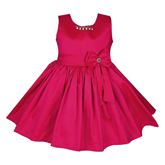 2c3bf875e Wish Karo Baby Girls Party Wear Frock Birthday Dress for Girls-Satin ...