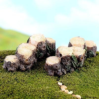 Surprising Miniature Fairy Garden Tree Stamp Bridge Ornament Dollhouse Plant Pot Figurine DIY Outdoor Decor Home Decoration : Garden & Outdoor