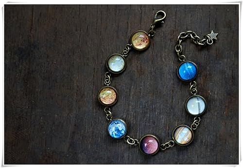nuovi stili 32386 507d3 Sistema solare, bracciale da Planet, Space Galaxy, gioielli ...