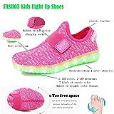 FASHOE Kids Boys Girls Breathable LED Light Up