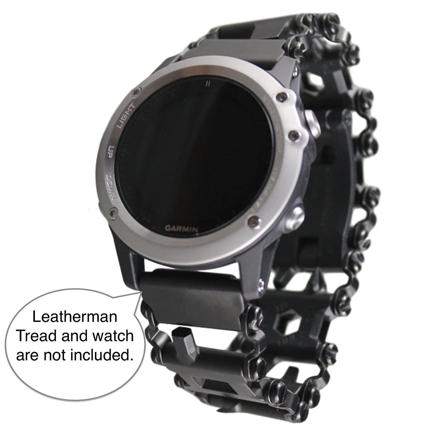 BestTechTool LEATHERMAN Tread Watch Adapter for GARMIN - Leatherman watch link - BTT adapter for GARMIN watches (Fenix 5x; Fenix 3, 3HR, 3Sapphire, ...