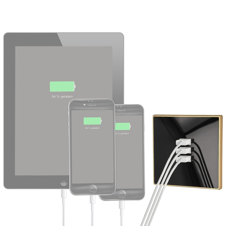 Est/ándar cajet/ín Fuente pared tablet PC por ejemplo para smartphone USB Minadax/® 3/x USB Cargador