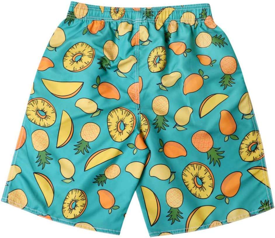 RCFRGV Beach shorts Men Green Printed Casual Beach Shorts Loose Quick-Drying Sweatpants Running Surfing Shorts XXXL