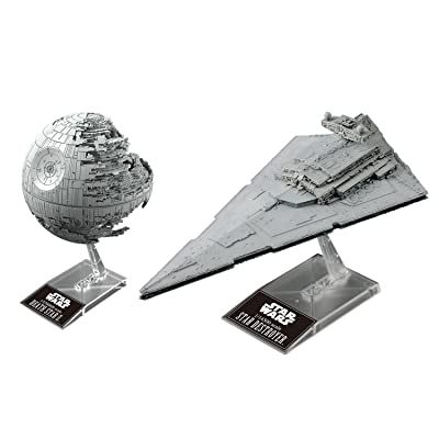 "Bandai Star Wars Plastic Model Death Star II 1/2,700,000 & Star Destroyer 1/14,500 ""Star Wars"": Toys & Games"