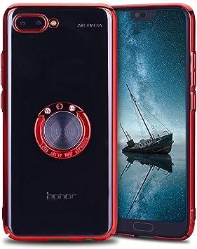 Anfire Funda Huawei Honor 10, Bumper Fundas con Anillo de Soporte ...