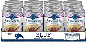 Blue Buffalo Family Favorites Natural Adult Wet Dog Food, Shepherd's Pie 12.5-oz can (Pack of 12)