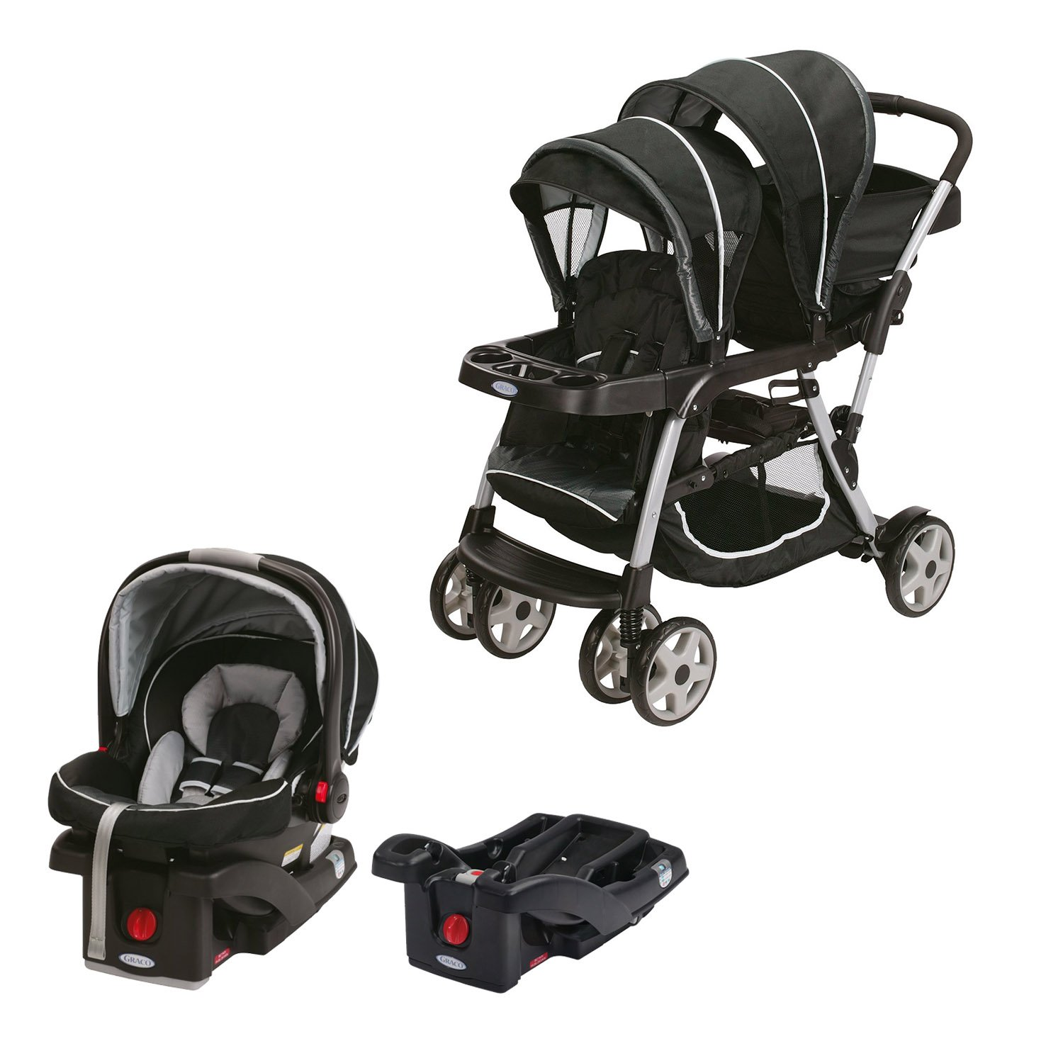 Graco Double Baby Stroller Snugride Car Seat Car Seat Base Travel System