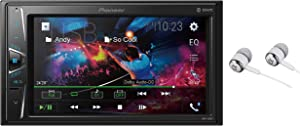 "Pioneer 6.2"" VGA Touchscreen WebLink Double DIN, Bluetooth USB MP3 Aux Input, in-Dash Siri Eyes Free & Google VR, Multi-Color Illumination Digital Media Receiver/Free Alphasonik Earbuds"