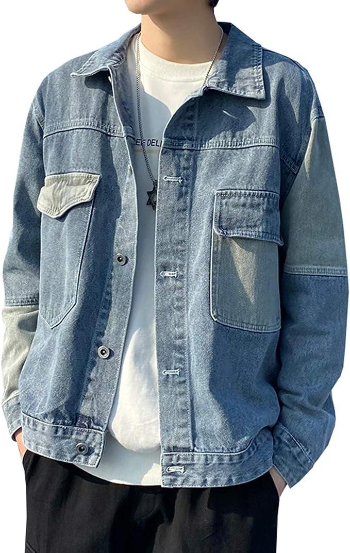 デニムジャケット メンズ S-3XL 大きいサイズ 春秋 防風 防寒 ジージャン おしゃれ カッコイイ ゆったり ストレッチ 快適 合わせやすい Gジャン 通勤 通学 お出かけ ブラック/ブルー